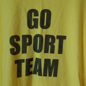 Go Sport Team Funny Tee Shirt American Apparel